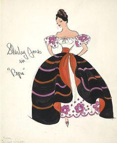 Edith Head sketch for Shirley Jones in Pepe (1960)
