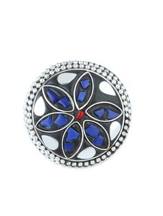 multi colored brass adjustable ring - Online Shopping for rings