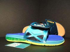 d7a95358c4aa New 2015 Nike Air Lebron 2 Slide Elite Flops Dark Atomic Teal To ...