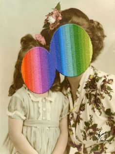 London-based artist Julie Cockburn incorporates colorful thread into vintage photographs, creating enigmatic yet vivid collages. Through the manipulation of found photographs, the artist transforms everyday. Collages, Collage Art, Julie Cockburn, John Baldessari, Colossal Art, Contemporary Embroidery, High School Art, Photomontage, Vintage Photographs