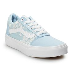 Vans Ward Girls' Flowers Skate Shoes is part of Vans shoes fashion - Refresh your skater style with these girl's Ward sneakers from Vans Comfort and durability combine for a cool laidback look Dr Shoes, Hype Shoes, Shoes Sneakers, Blue Sneakers, Womens Vans Sneakers, Nurse Shoes, Floral Sneakers, Pink Shoes, Adidas Sneakers