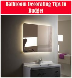 Decorating Tips for the Bathroom Decor, Ideal Bathrooms, Decorating On A Budget, Bathroom, Professional Decor, Shower Curtain Decor, Elegant Mirrors, Curtain Decor, Bathroom Decor