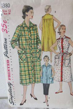 Vintage Simplicity 1380 Misses 1950s by VINTAGEShopsDelight