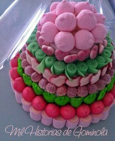Candy Cake – Passo a Passo Candy Birthday Cakes, Candy Cakes, Cupcake Cakes, Chocolates, Cake Bouquet, Sweet Trees, Chocolate Bouquet, Cake Boss, Holiday Cakes