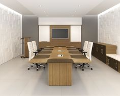 Artopex has conference solutions for any design.  Veneer, laminate, solid surface inlays, leather inlays, customs and much more. http://www.corecontractbrands.com/conference/