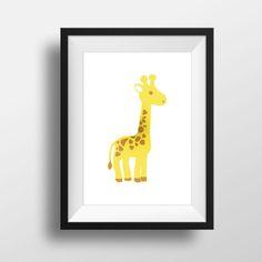 Baby's room wall art of a giraffe