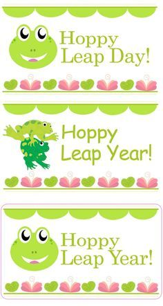 Leap years, Leap day and Free printable on Pinterest