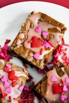 Valentine's Brownies with White Chocolate and Blood Orange Glaze (Gluten-Free) - the Perfect treat for your loved ones! 2016 Jane Bonacci, The Heritage Cook