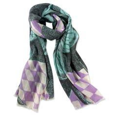 Thomas Paul; Bloomsbury flower wool scarf.