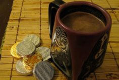 Spiced Hot Chocolate made from leftover gelt