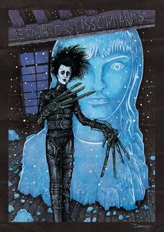 Tim Burton Films, Edward Scissorhands, Cool Art Drawings, Time Art, Art Gallery, Horror, Mermaid, Cinema, Halloween