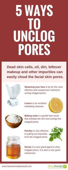 unclog skin pores infographic