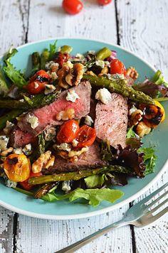 Warm Balsamic Steak and Vegetable Medley.  Salad and meat lovers, unite!   hostthetoast.com