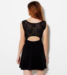 True Black lace backing dress. American Eagle.