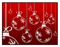 Christmas Cards - Ornaments - 6 pack