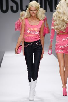 Moschino rtw Spring 2014 Runway Barbie Inspired Show