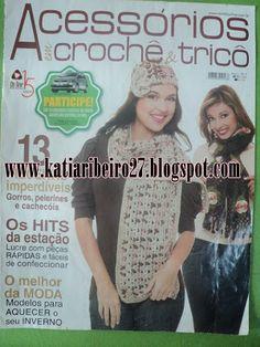 Katia Ribeiro Acessórios: Revista completa - Golas, cachecóis, pelerines, gorros em tricô e crochê