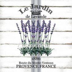 Le Jardin Lavender A4 Grain Sack Style Instant Digital Download Printable…