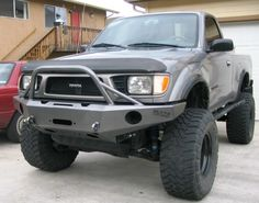 Click this image to show the full-size version. Toyota Tacoma Bumper, Toyota Surf, Toyota Pickup 4x4, Toyota Hilux, Nissan Trucks, Toyota Trucks, Custom Truck Flatbeds, Truck Bed Storage, Tacoma Truck