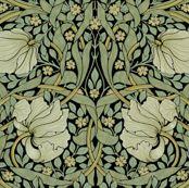 William Morris ~ Pimpernel ~ Original on Black by peacoquettedesigns