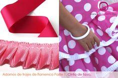 tipos de adorno para Trajes de flamenca | La Hilandera Mercería y Labores