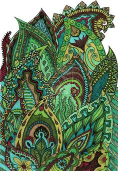 Image detail for -Art: Doodles and Zentangle / zentangle on imgfave Tangle Doodle, Tangle Art, Doodles Zentangles, Zen Doodle, Zentangle Patterns, Doodle Art, Paisley Doodle, Paisley Drawing, Grafic Design