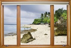 Picture Window View of tropical white sand beach. Have you ever wanted to have a window view of the beach from your home or office window? Well now you can with our Picture Window fine art beach scenic views. Bring nature indoors in any room or office, now anyone can have a window with a view with our fine art striking photography window nature landscape canvas wraps and acrylic prints . Prints starting at $25. Copyright: James Bo Insogna BoInsogna.com . #InsognaGallery #WindowArt