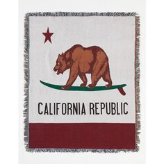 Cali Bear Tapestry Blanket ($30) ❤ liked on Polyvore featuring home, bed & bath, bedding, blankets, tapestry bedding, polyester blanket, knit blanket, bear bedding and bears rainbow blanket