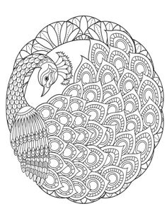 ru / Фото - Coloring Bird Mandalas Adult Coloring Book by Wendy Piersall - tymannost Peacock Drawing, Peacock Painting, Peacock Art, Dot Art Painting, Mandala Drawing, Peacock Sketch, Cute Coloring Pages, Mandala Coloring Pages, Animal Coloring Pages