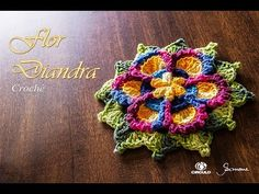 Tapete de Crochê Mandala Colorida Parte 1 - Simone Eleotério - YouTube
