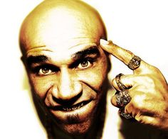 Goldie. Seen him twice, invariably shouting down his phone. The teeth are the giveaway funnily enough.