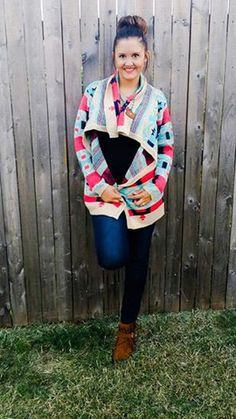 Turquoise & Coral Cardigan – Armoured Belle Boutique