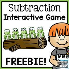 Subtraction Interactive Tool - Free by Amanda's Little Learners Subtraction Kindergarten, Subtraction Activities, Kindergarten Math Activities, Preschool Math, Math Classroom, Fun Math, Math Resources, Teaching Math, Numeracy