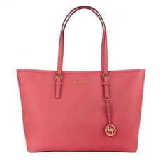 16d070f7d9d6 Michael Kors Tasche – Jet Set Travel MD TZ Multifunction Tote Coral Reef –  in rot – Umhängetasche für Damen