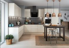Full size of small apartment cabinets requirements solutions space saving kitchen spaces pantry standards astounding furniture Cream And Grey Kitchen, Cream Kitchen Units, Cream Gloss Kitchen, Kitchen Living, New Kitchen, Kitchen Decor, Kitchen Ideas, Luna Kitchen, Kitchen Stuff