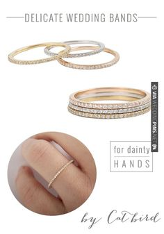 Catbird Wedding Bands | Bridal Musings | CHECK OUT MORE IDEAS AT WEDDINGPINS.NET | #weddings #weddinginspiration #inspirational