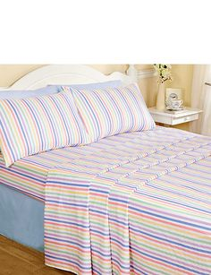 Candy Stripe Flannelette Sheet Sets Organic Cotton Sheets 9e5697fe4