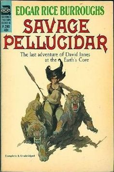 """F-280 EDGAR RICE BURROUGHS Savage Pellucidar (cover by Frank Frazetta; 1964; listed as """"complete and unabridged"""")"""