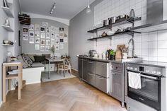 Pequeña cocina profesional estilo escandinavo cocinas pequeñas cocinas nórdicas cocinas modernas cocinas industriales cocinas de acero inoxidable blog decoración nórdica