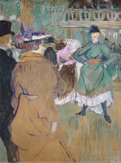 Quadrille at the Moulin Rouge Henri de Toulouse-Lautrec (French, Oil on cardboard. The Moulin Rouge dance hall was opened on 5 October and was the meeting place of Paris. National Gallery Of Art, National Art, Art Gallery, Henri De Toulouse Lautrec, Paul Cezanne, Maurice Utrillo, Impressionist Art, Le Moulin, Renoir