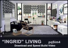 """""""Ingrid"""" Living. Sims 4 Custom Content. ~ pqSim4"""