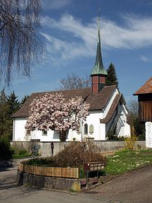 Link to Wikipedia info. on Urdorf. Protestant Church in Urdorf.