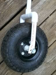 PVC pipes upcycled into a balance bike! Pvc Pipe Crafts, Pvc Pipe Projects, Diy And Crafts, Projects To Try, Bike Cart, Pvc Furniture, Beach Cart, Kayak Storage, Kayak Accessories