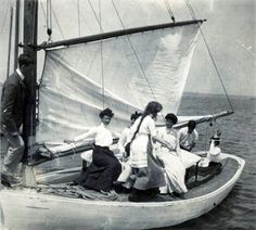 1900's Women on a Sailboat by captainpandapants, via Flickr