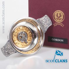Gordon Clan Crest Quaich. Free worldwide shipping available