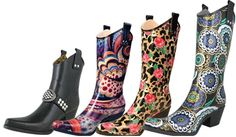 Be prepared for Spring showers! Cowgirl Rain Boots now on sale!