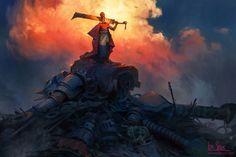 Robot Slayer (free tutorial), Artur Sadlos on ArtStation at https://www.artstation.com/artwork/dVLNJ