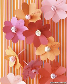 Heart and lollipop valentine flowers