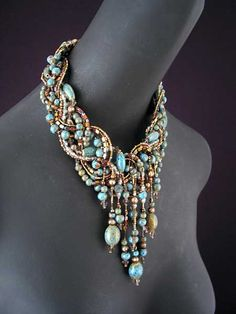 When I grow up, I want to make exquisite jewelry like this necklace.  It's amazing.