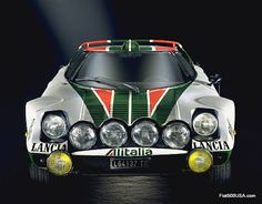 Lancia Stratos HF (High Fidelity) Group 4 Rally in 1974 (Group 5 in 1972-1973 before homologation). 2418cc/147.56cu.in. 65° DOHC V6. 980kg/2,161lb. Body styling by Marcello Gandini (Bertone). The Stratos Rally car development produced the first purpose built rally race car designed from scratch. Won 1974, 1975, and1976 Championships with drivers Sandro Munari and Björn Waldegård.